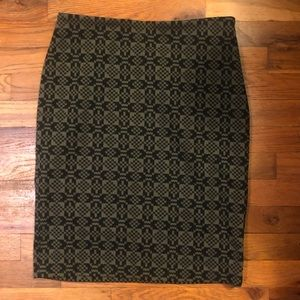 Olive Green and Black Skirt